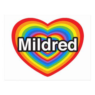 私はMildredを愛します。 私はMildred愛します。 ハート ポストカード