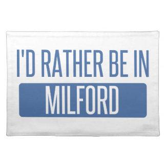 私はMilfordにむしろいます ランチョンマット
