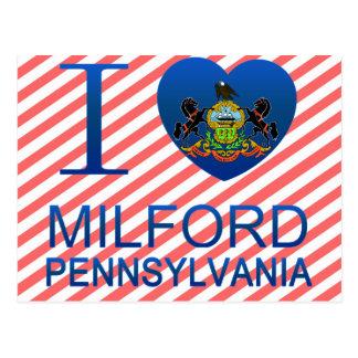 私はMilford、PAを愛します ポストカード