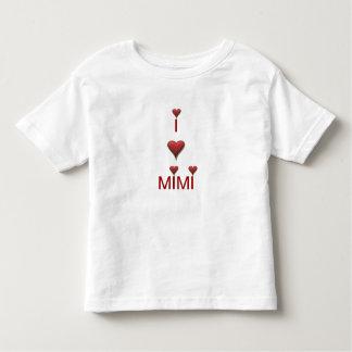 私はMIMI幼児のTシャツのTシャツを愛します トドラーTシャツ