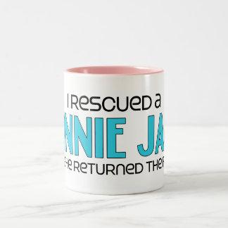 私はMinnieジャック(女性の)犬の採用を救助しました ツートーンマグカップ