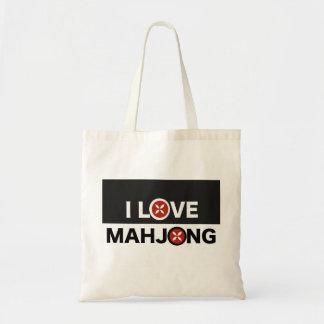 私はMJの花と取り替えられるMahjong Oを愛します トートバッグ
