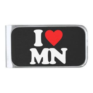 私はMNを愛します シルバー マネークリップ