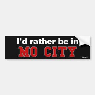 私はMo都市にむしろいます バンパーステッカー