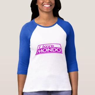 私はMONDO -プロジェクトの走路ティムGunnハイディKlum --を愛します Tシャツ