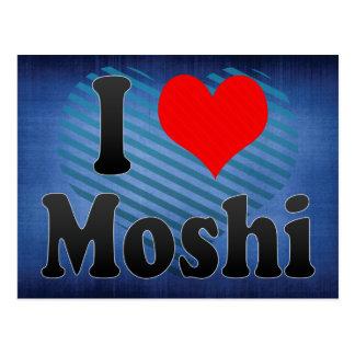 私はMoshi、タンザニアを愛します ポストカード