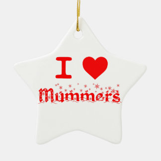 私はMUMMERSを愛します セラミックオーナメント