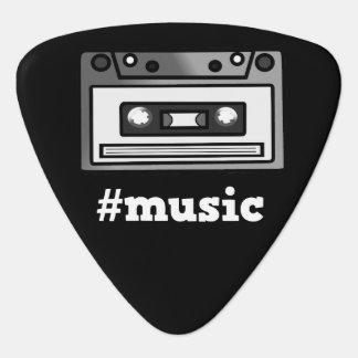 私はMusic/#Music Hashtagのカセットテープのデザインを愛します ギターピック