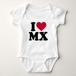 私はMXのモトクロスを愛します ベビーボディスーツ