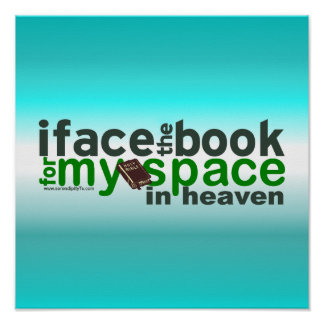 私はMyspaceのための本に直面します ポスター