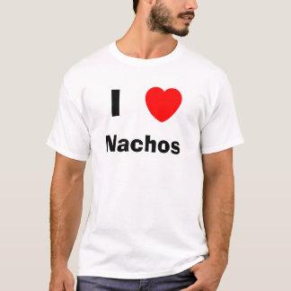 私はNachosを愛します Tシャツ