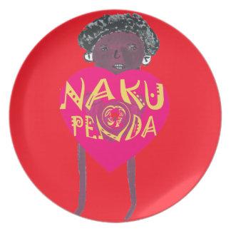 私はNakupendaケニヤのスワヒリ族の芸術愛します パーティープレート
