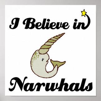 私はnarwhalsで信じます ポスター