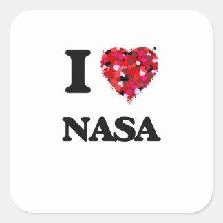 私はNASAを愛します スクエアシール