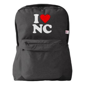 私はNCを愛します AMERICAN APPAREL™バックパック