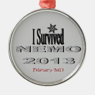 私はNEMO 2013のオーナメントを生き延びました メタルオーナメント