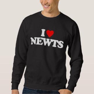 私はNEWTSを愛します スウェットシャツ
