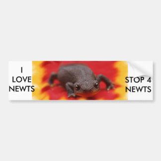 私はNewtsを愛します バンパーステッカー