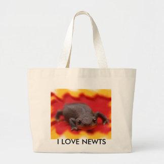 私はNewtsを愛します ラージトートバッグ