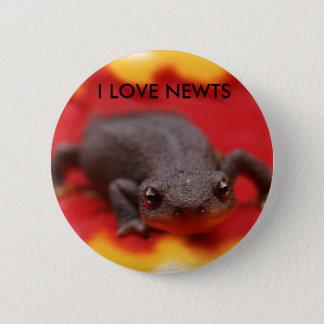 私はNewtsを愛します 5.7cm 丸型バッジ