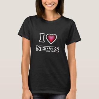 私はNewtsを愛します Tシャツ