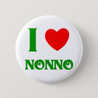 私はNonnoを愛します 5.7cm 丸型バッジ