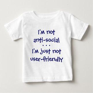 私はnotanti社会的、私ですちょうどnotuserフレンドリー、…です ベビーTシャツ