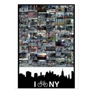 私はNYを自転車に乗ります ポストカード