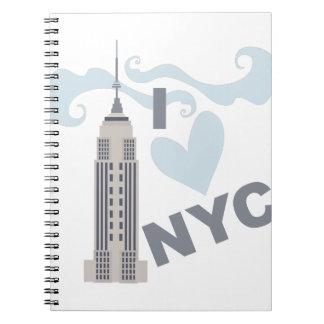 私はNYCを愛します ノートブック