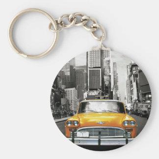 私はNYC -ニューヨークのタクシー--を愛します キーホルダー