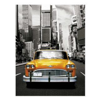 私はNYC -ニューヨークのタクシー--を愛します ポストカード