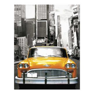 私はNYC -ニューヨークのタクシー--を愛します レターヘッド