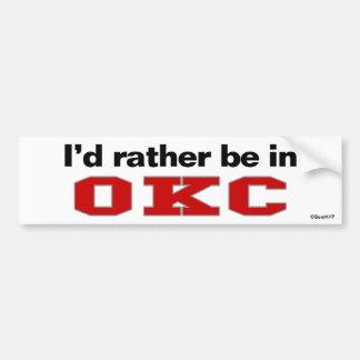 私はOKCにむしろあります バンパーステッカー