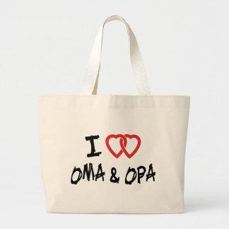 私はOma及びOpaを愛します ラージトートバッグ