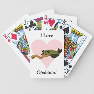私はOpabiniaを愛します! バイスクルトランプ