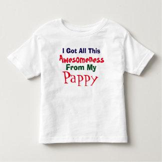 私はPappyの私のTシャツから私のAwesomenessを得ます トドラーTシャツ