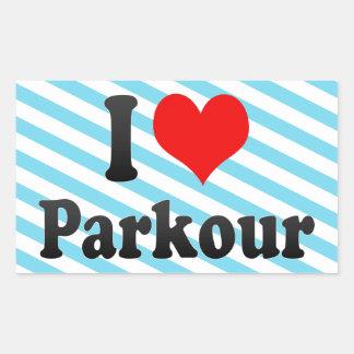 私はParkourを愛します 長方形シール