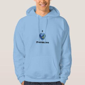 私はPermiesのフード付きスウェットシャツを愛します パーカ