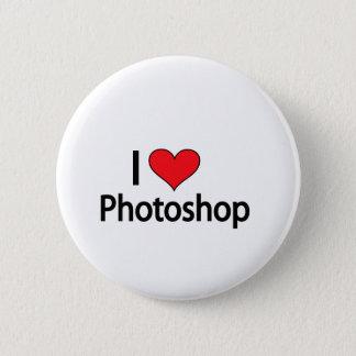 私はphotoshopを愛します 5.7cm 丸型バッジ