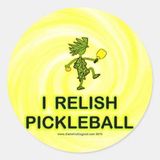 私はPickleballのワイシャツ及びギフトを楽しみます ラウンドシール