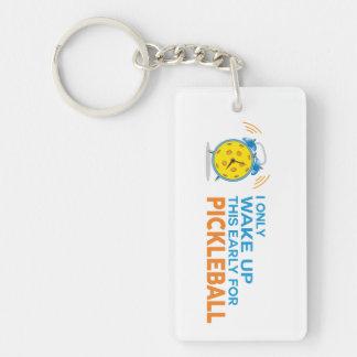私はPickleball Keychainのためのこれだけを早く目覚めます キーホルダー