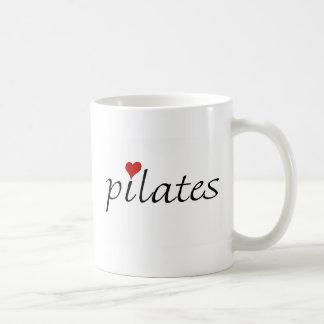 私はPilatesのマグを愛します コーヒーマグカップ