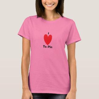 私はPinに愛します Tシャツ