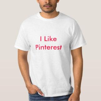 私はPinterestを好みます Tシャツ
