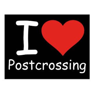 私はPostcrossingを愛します ポストカード