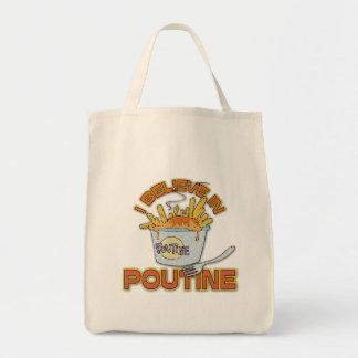 私はPoutineで信じます トートバッグ