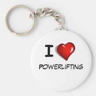 私はPowerliftingを愛します キーホルダー