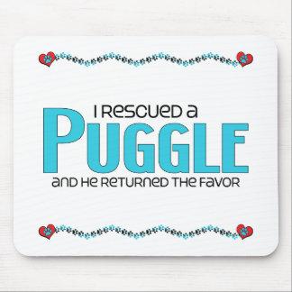 私はPuggle (男性)犬の採用のデザインを救助しました マウスパッド