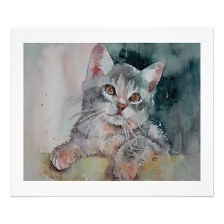 私はPurrr-fectです。 小さい子ネコ。 写真のプリント フォトプリント