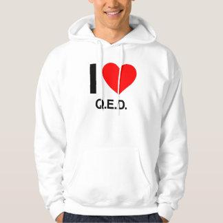 私はq.e.d.を愛します パーカ